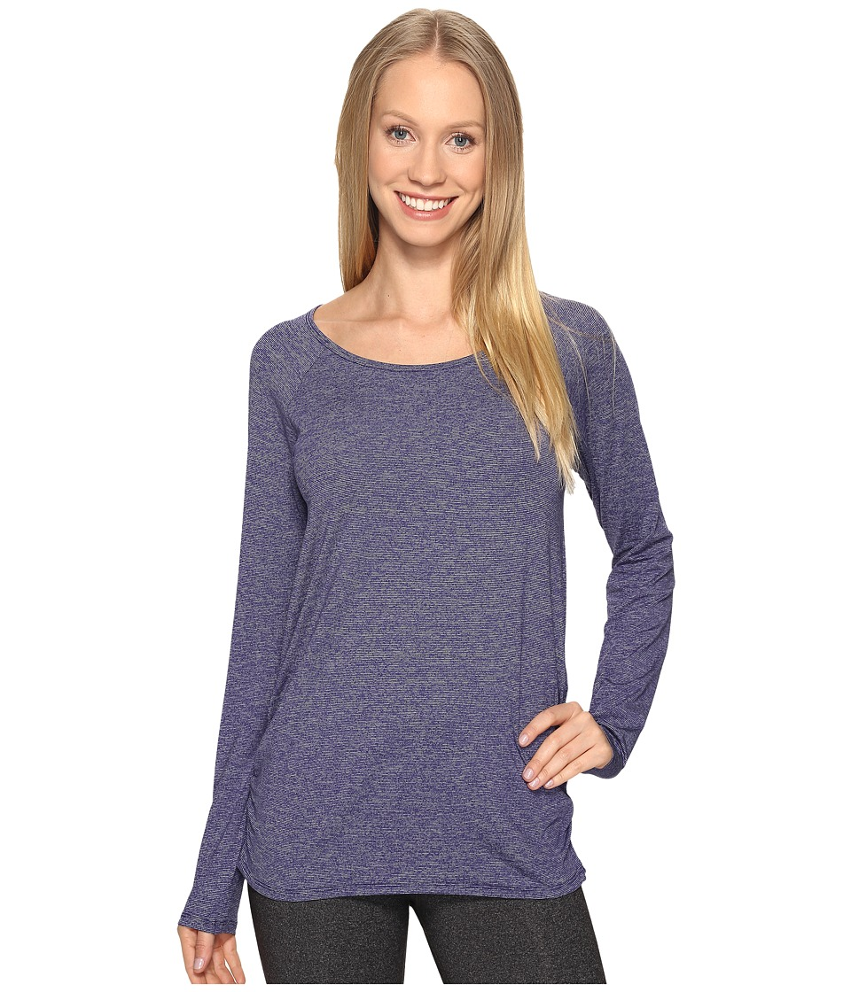 Lucy - Cosmic Long Sleeve Top (Pure Indigo Micro Stripe) Women's Long Sleeve Pullover