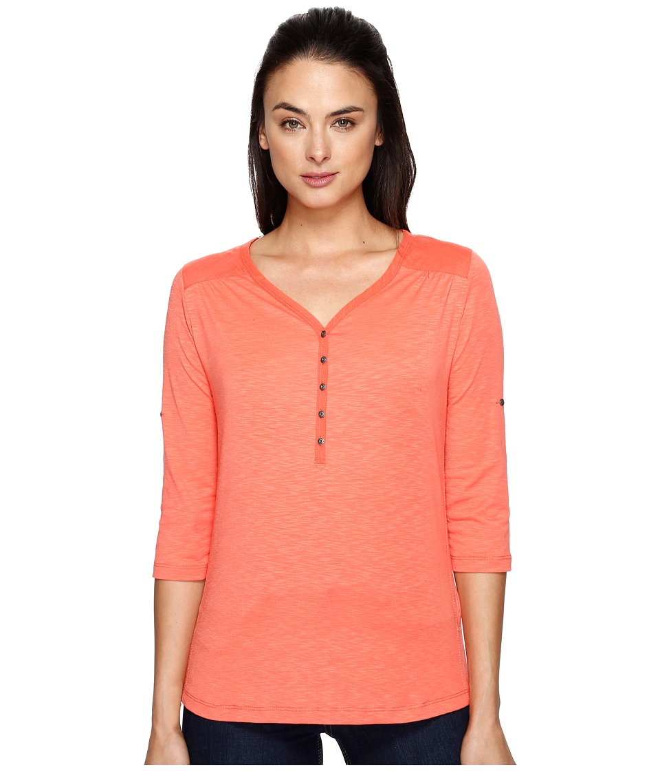 KUHL - Shasta 3/4 Sleeve Shirt (Guava) Women's Long Sleeve Pullover