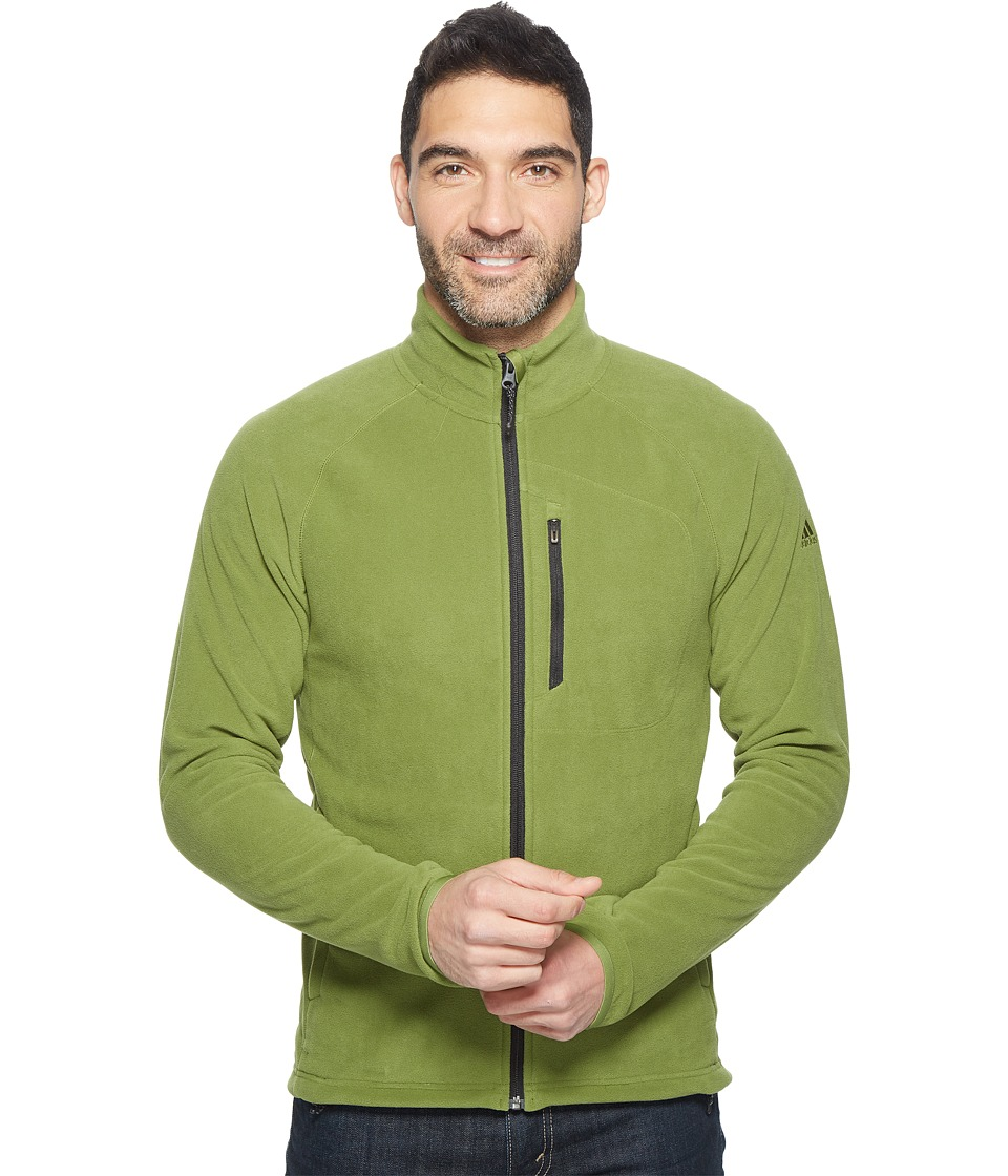 adidas Outdoor - Reachout Fleece Jacket (Craft Green) Men's Coat