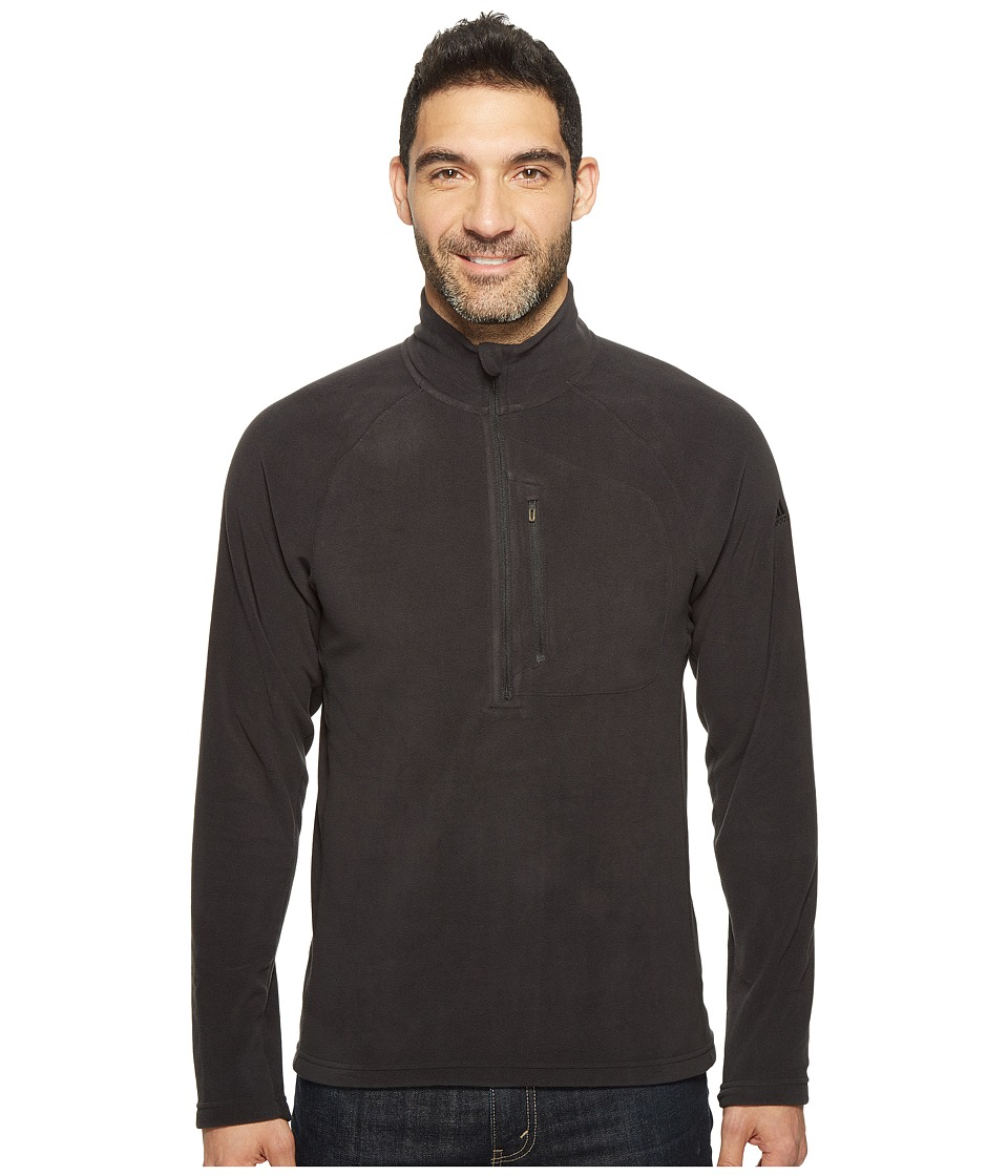 adidas Outdoor - Reachout 1/2 Zip Fleece (Black/Black) Men's Fleece