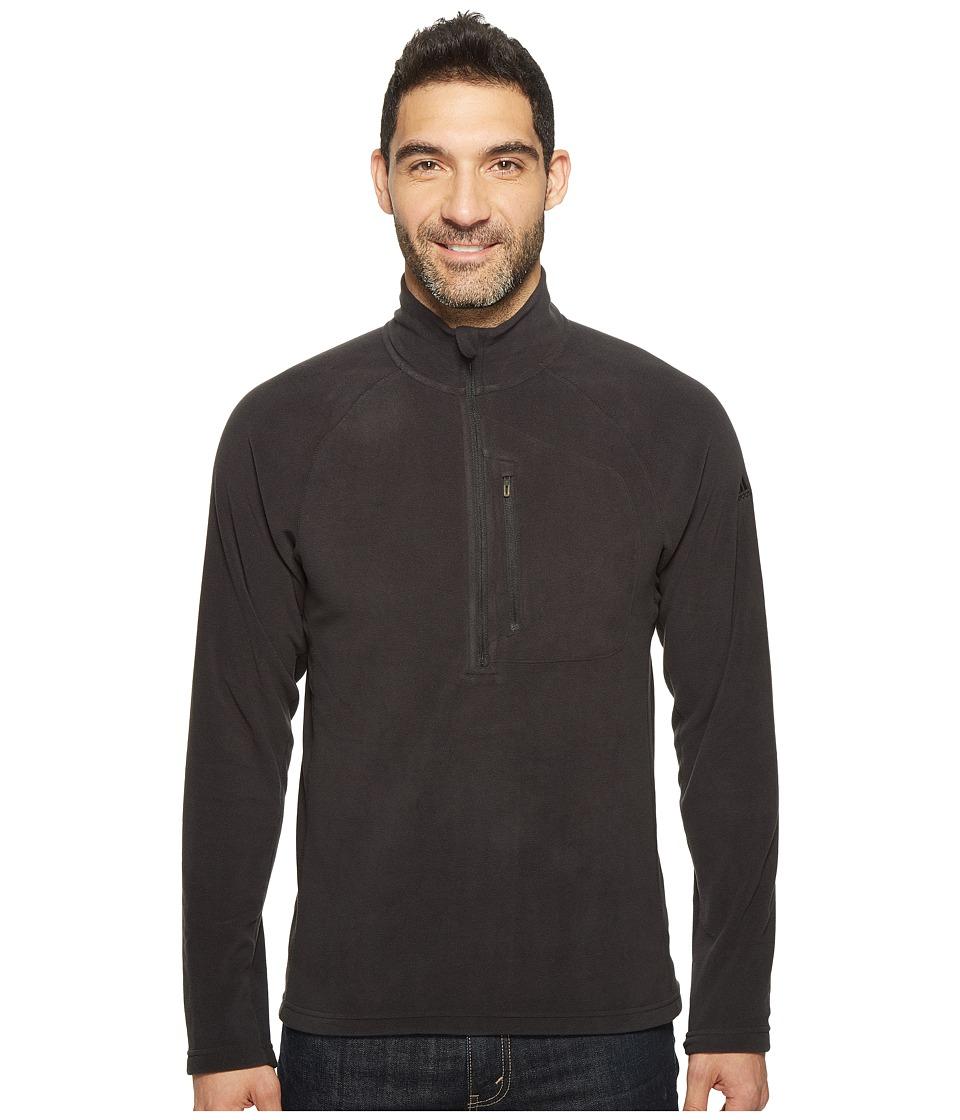 adidas Outdoor - Reachout 1/2 Zip Fleece (Black/Black) Men's Fleece