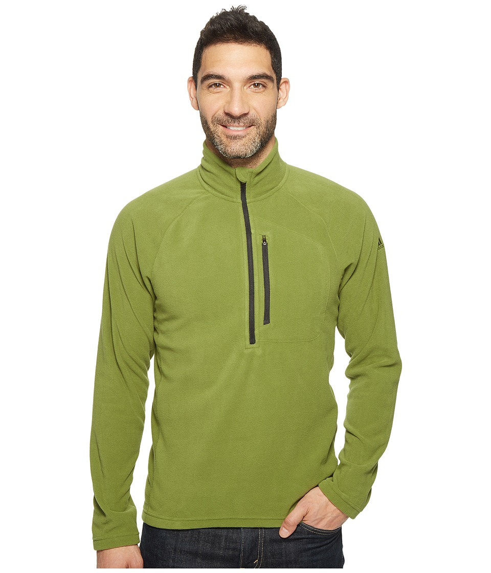 adidas Outdoor - Reachout 1/2 Zip Fleece (Craft Green) Men's Fleece
