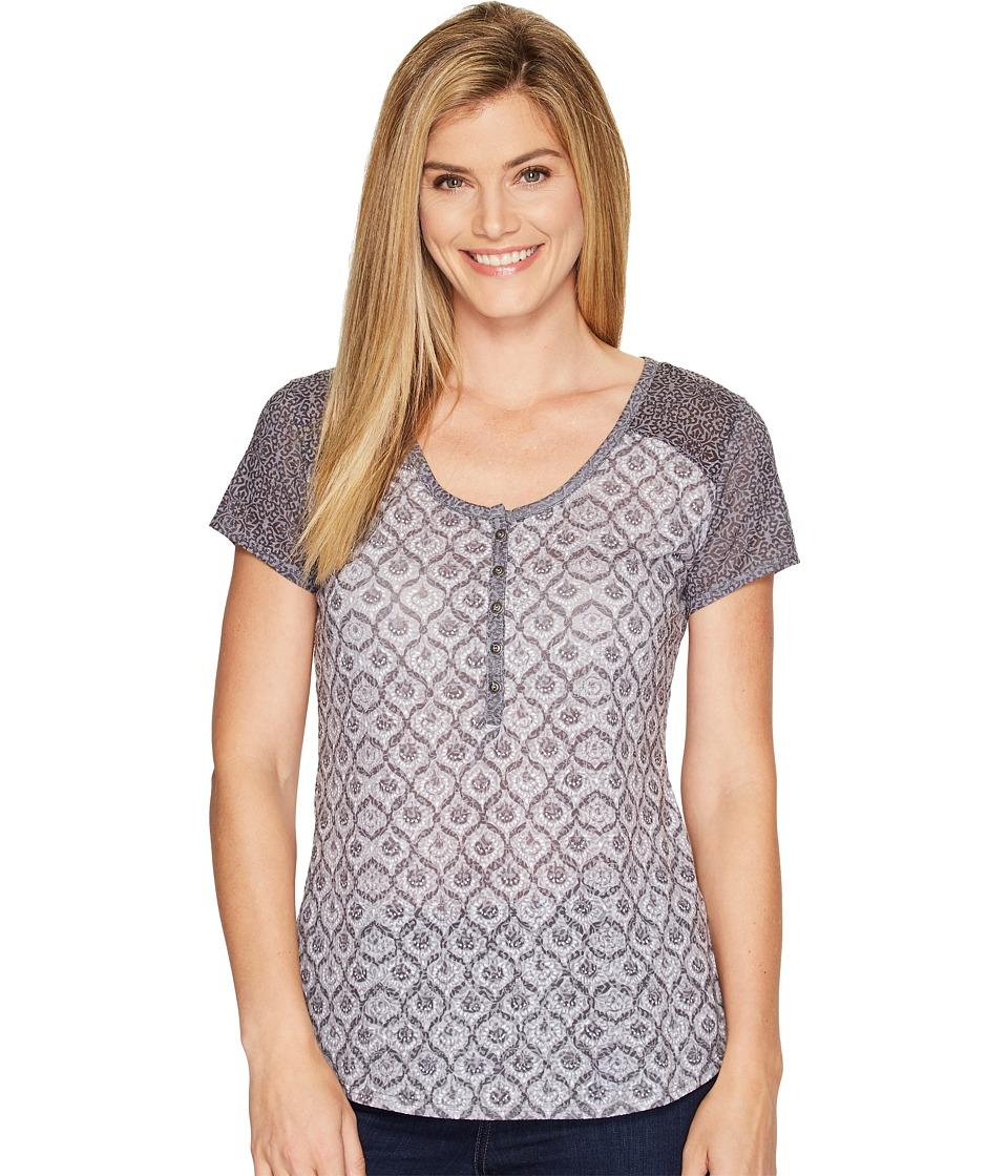 KUHL - Kortina Short Sleeve Henley (Black) Women's Short Sleeve Pullover