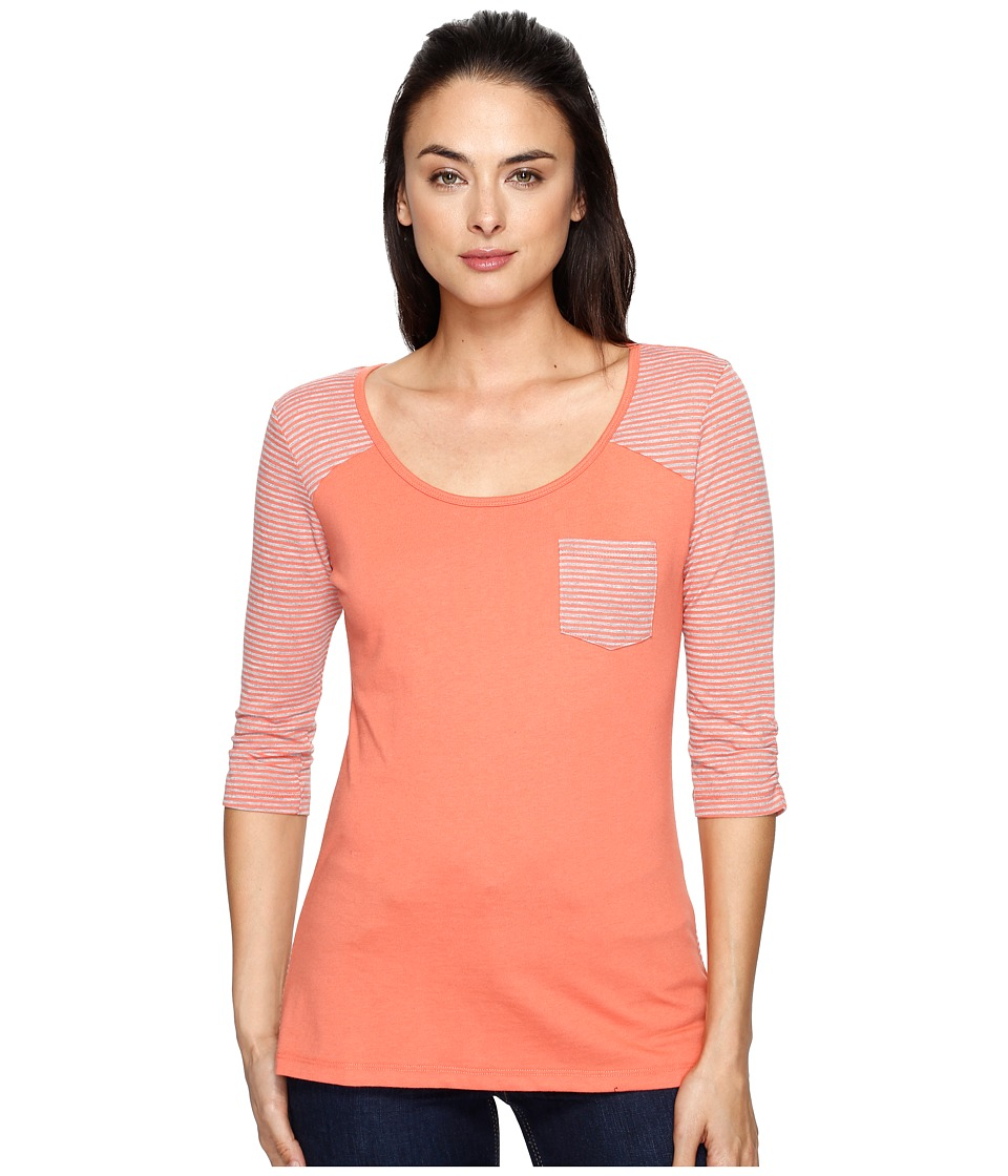 KUHL - Kahera 3/4 Sleeve Shirt (Guava) Women's Long Sleeve Pullover