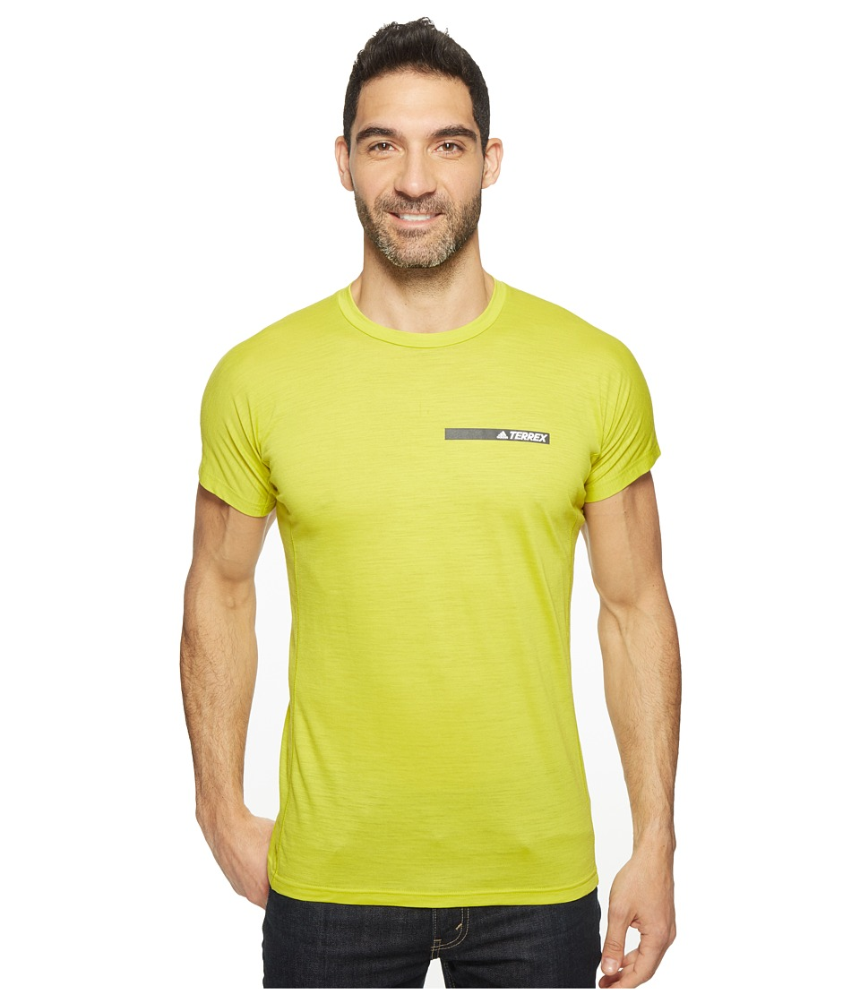 adidas Outdoor - Agravic Tee (Unity Lime) Men's Short Sleeve Pullover