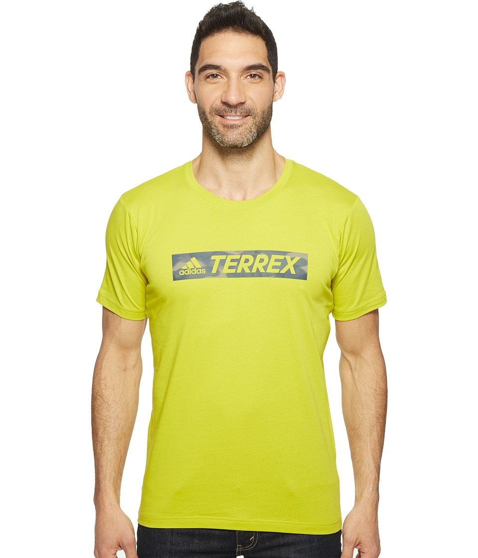 adidas Outdoor - Logo Bar Tee (Unity Lime) Men's T Shirt