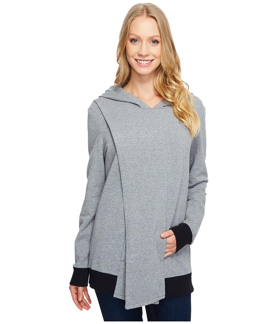 Lucy - Keep Calm Pullover Wrap (Silver Filigree Heather) Women's Sweatshirt