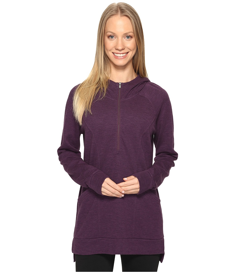 Lucy - OM 1/2 Zip Pullover (Blackberry Heather) Women's Sweatshirt