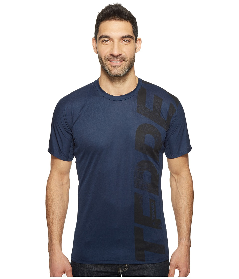 adidas Outdoor - Trailcross Tee (Collegiate Navy) Men's T Shirt