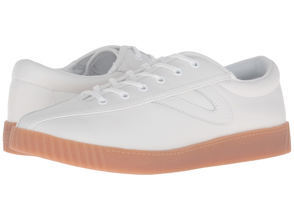 Tretorn - Nylite 2 Plus (White/White/Honey) Women's Lace up casual Shoes