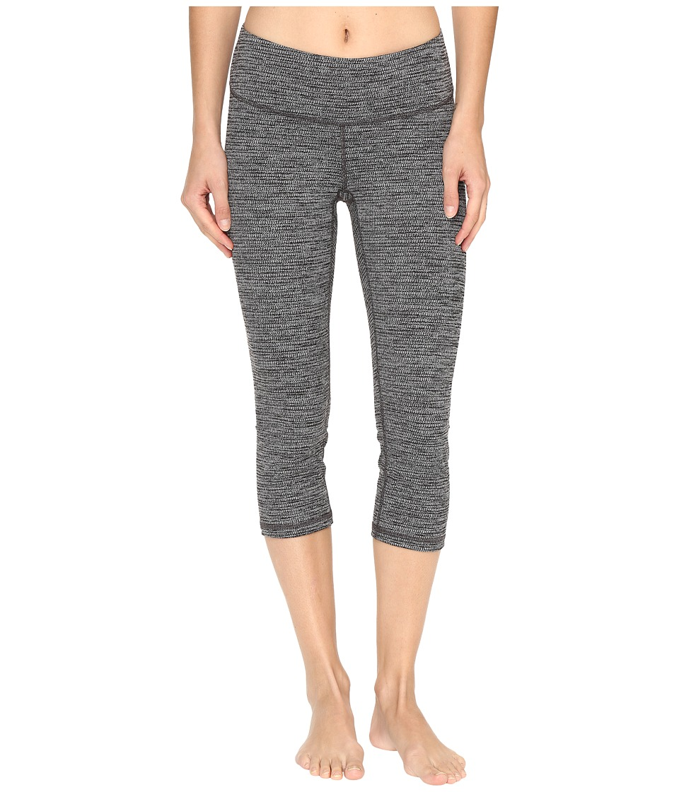 Lucy - Studio Hatha Capri Leggings (Lucy Black Marled) Women's Workout