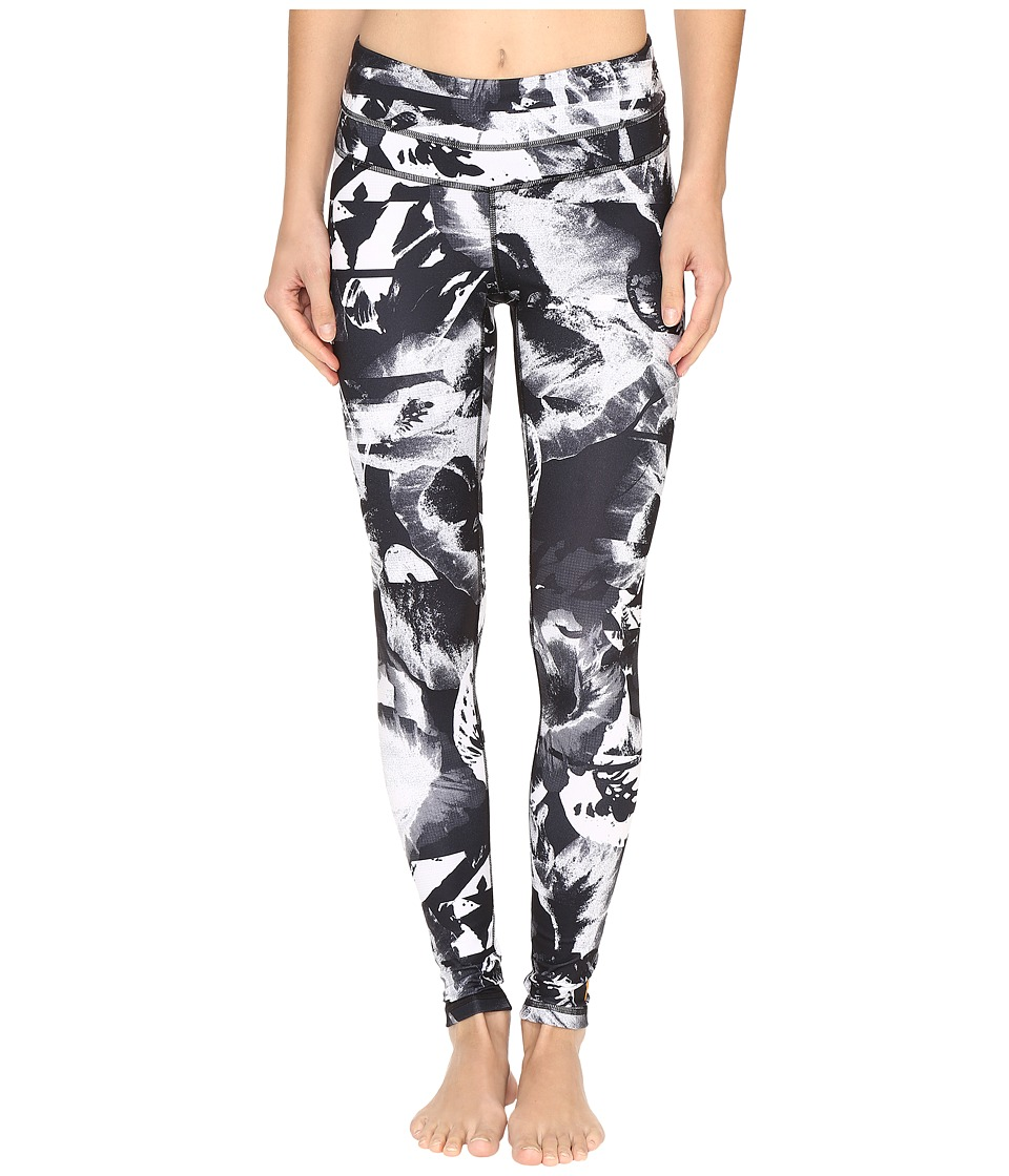 Lucy - Studio Hatha Legging (Lucy Black Abstract Floral Print) Women's Workout