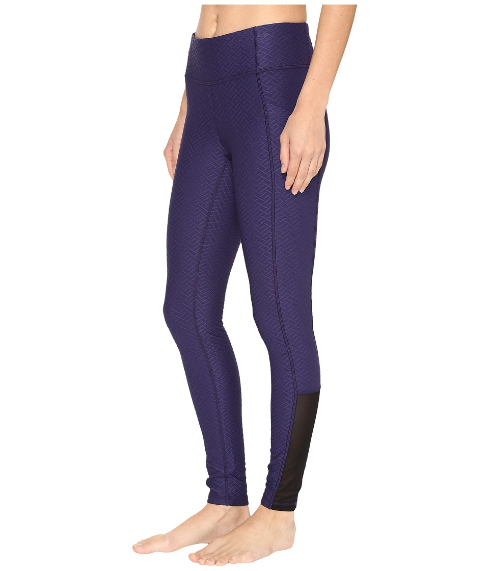 Lucy - No Excuses Tights (Pure Indigo Velocity Jacquard) Women's Workout