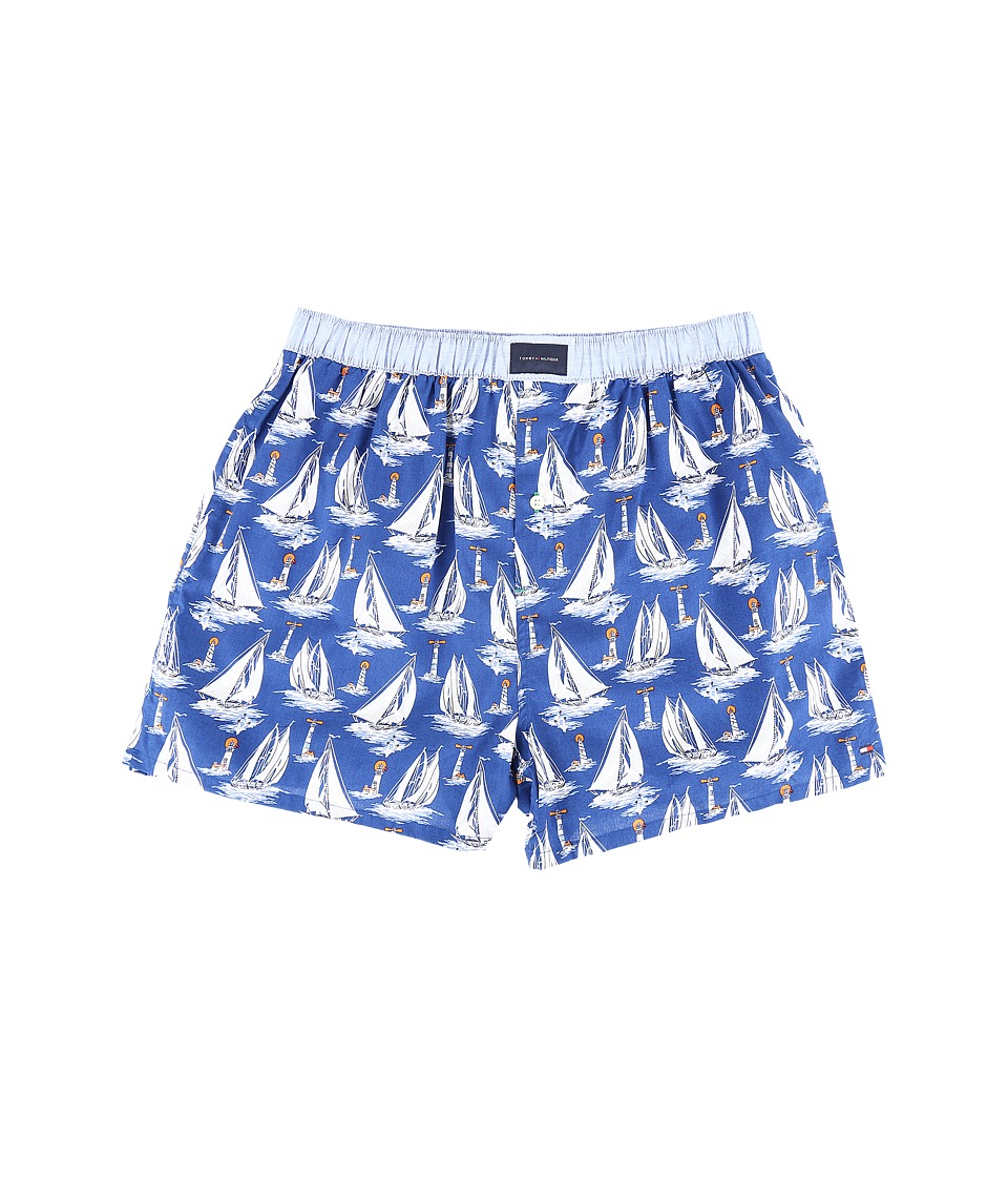 Tommy Hilfiger - Tommy Woven Boxer (Yacht Club Blue) Men's Underwear