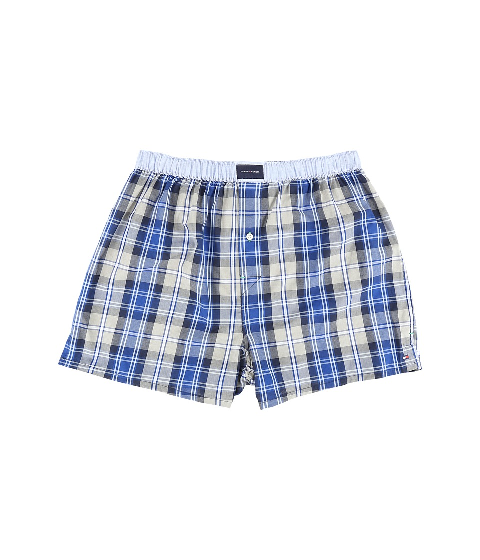 Tommy Hilfiger - Tommy Woven Boxer (Empire Blue) Men's Underwear