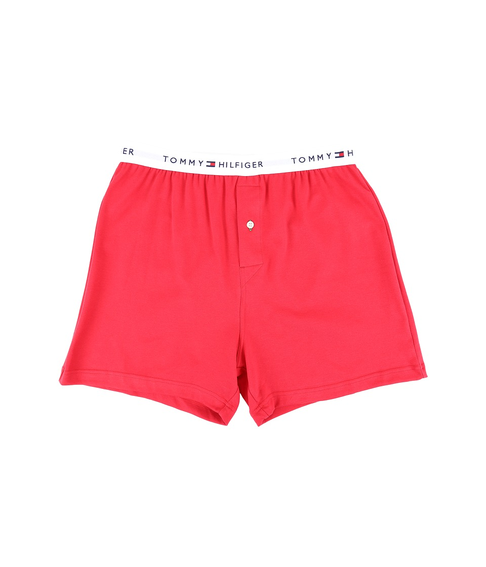 Tommy Hilfiger - Tommy Woven Boxer (Mahogany) Men's Underwear