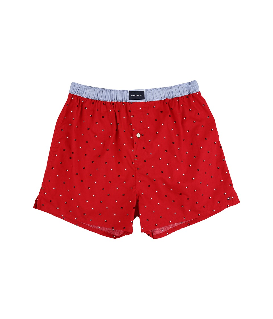 Tommy Hilfiger - Tommy Woven Boxer Flag (Mahogany) Men's Underwear
