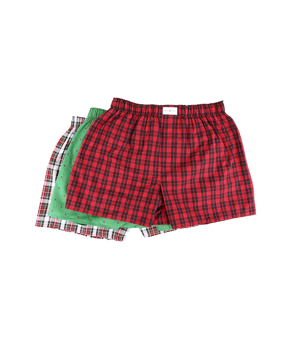 Tommy Hilfiger - 3-Pack Woven Boxer (Cardinal) Men's Underwear