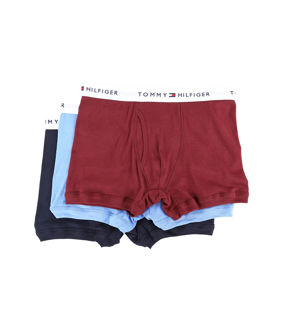 Tommy Hilfiger - Cotton Trunk 3-Pack (Garnet) Men's Underwear