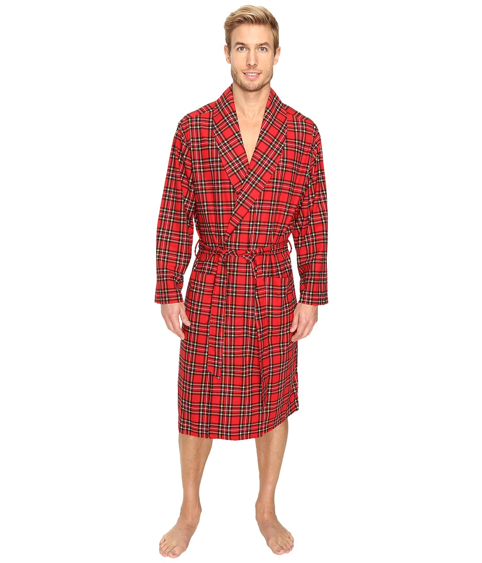 Tommy Hilfiger - Cozy Fleece Robe (Mahogany) Men's Robe