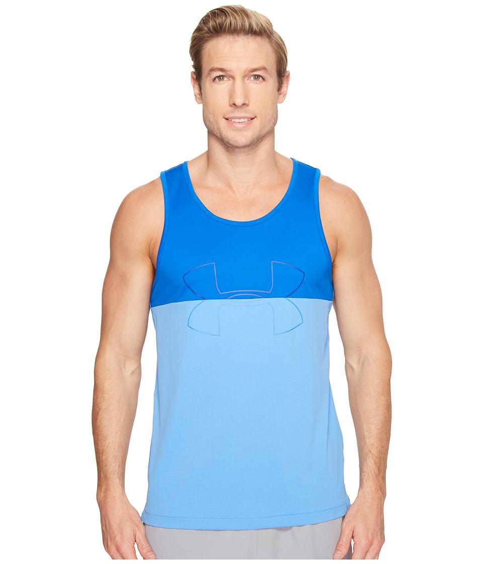 Under Armour - UA Fractle Tank Top (Water/Blue Marker/Water) Men's Sleeveless