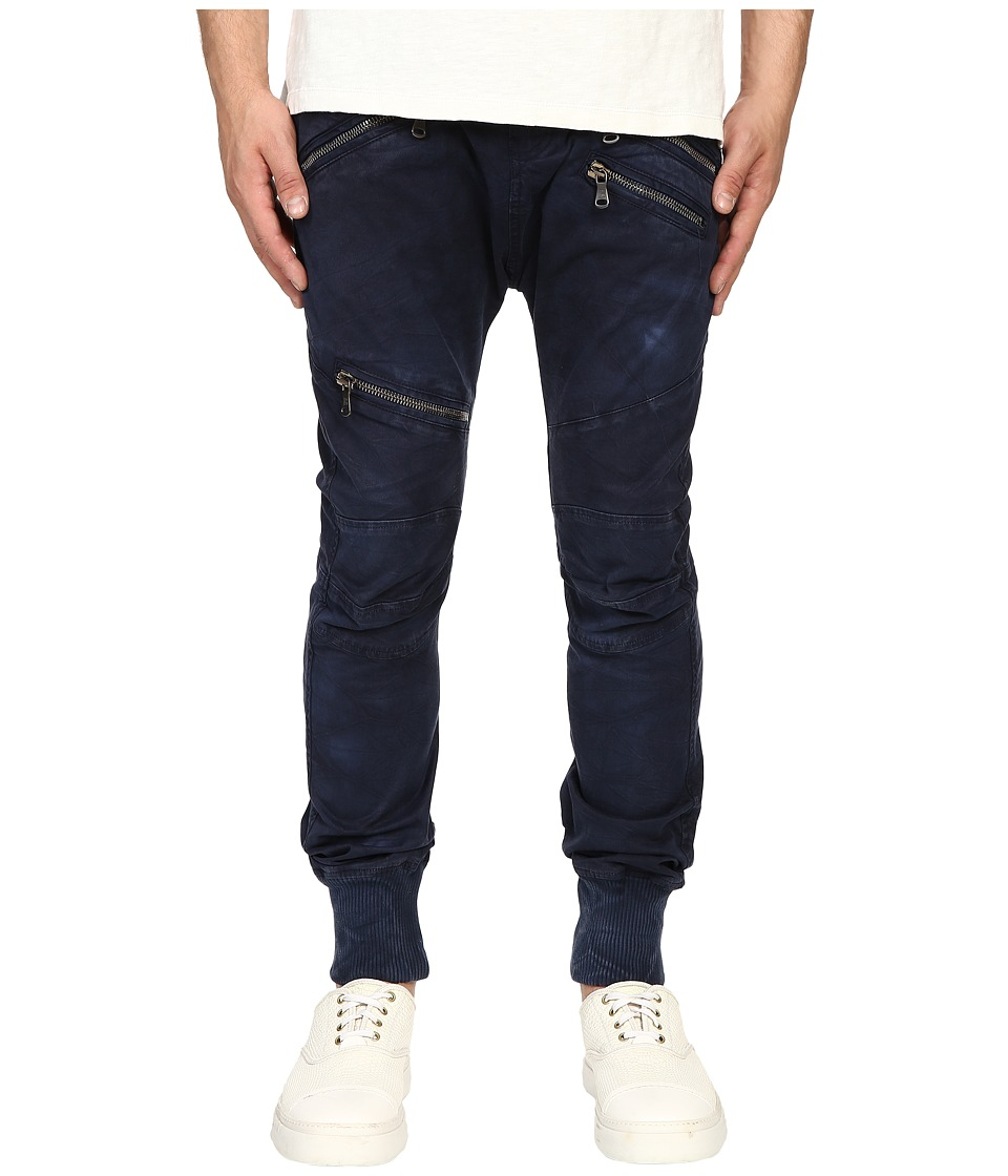 Pierre Balmain - Classic Zipper Trousers (Blue Navy) Men's Casual Pants