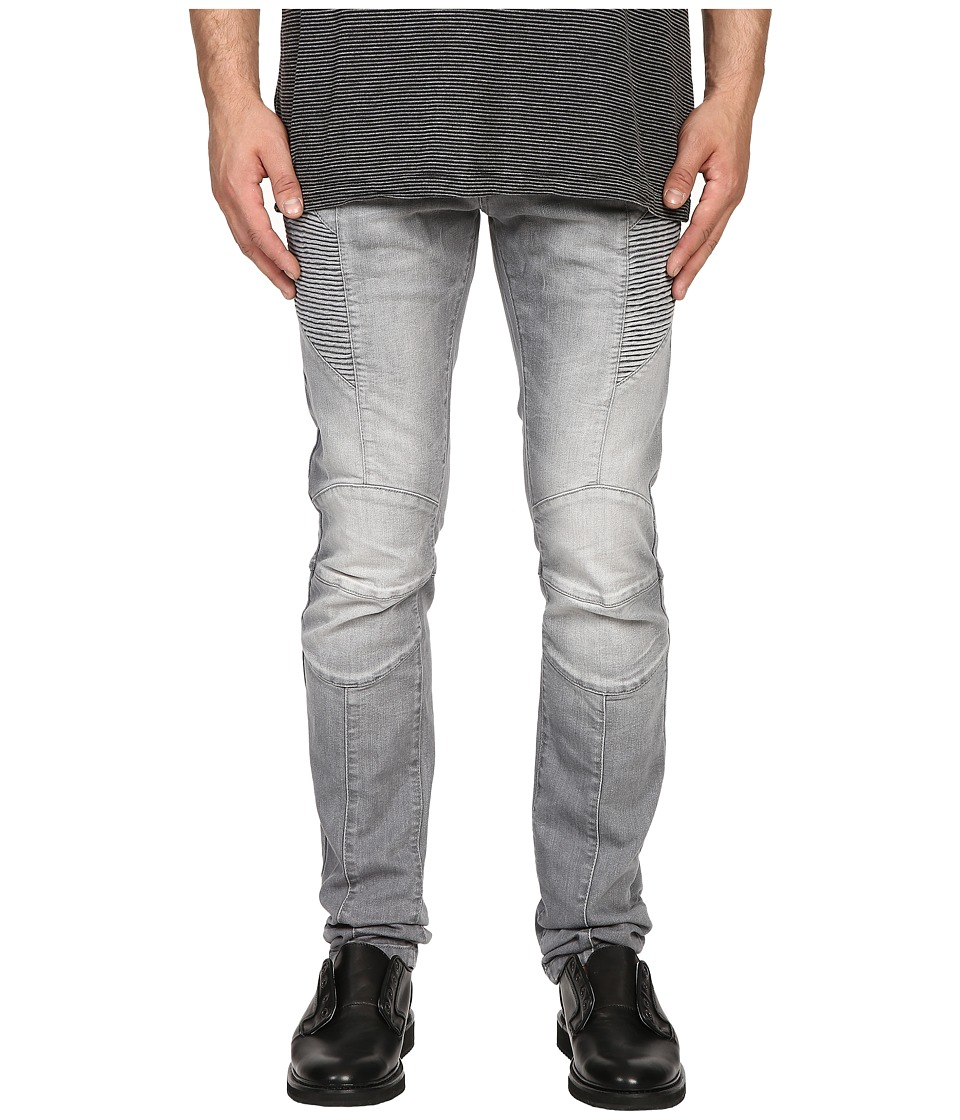 Pierre Balmain - Classic Biker Jeans (Grey Denim) Men's Jeans