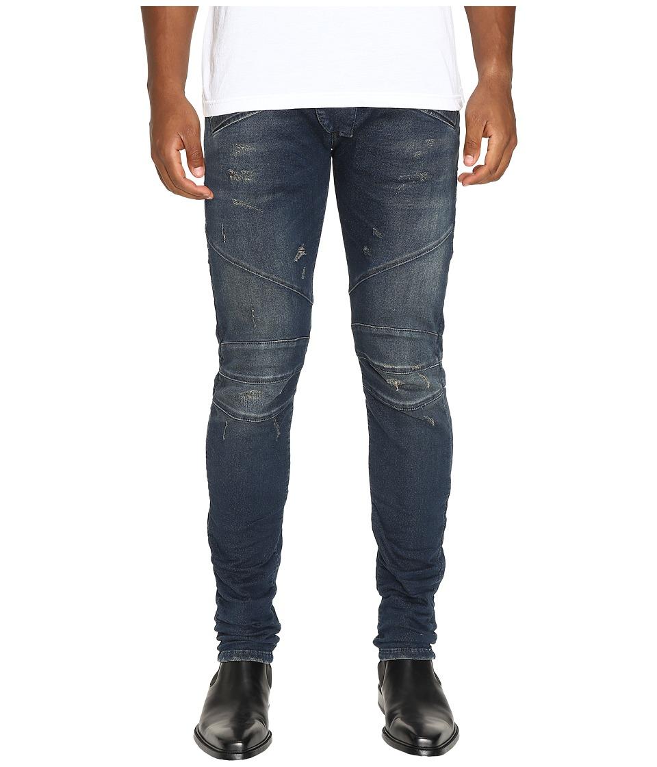 Pierre Balmain - Classic Biker Jeans (Blue Denim) Men's Jeans