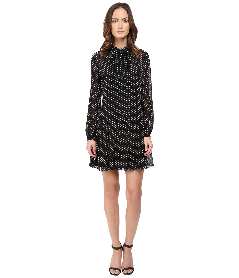 McQ - Pintuck Pussybow Dress (Black) Women's Dress
