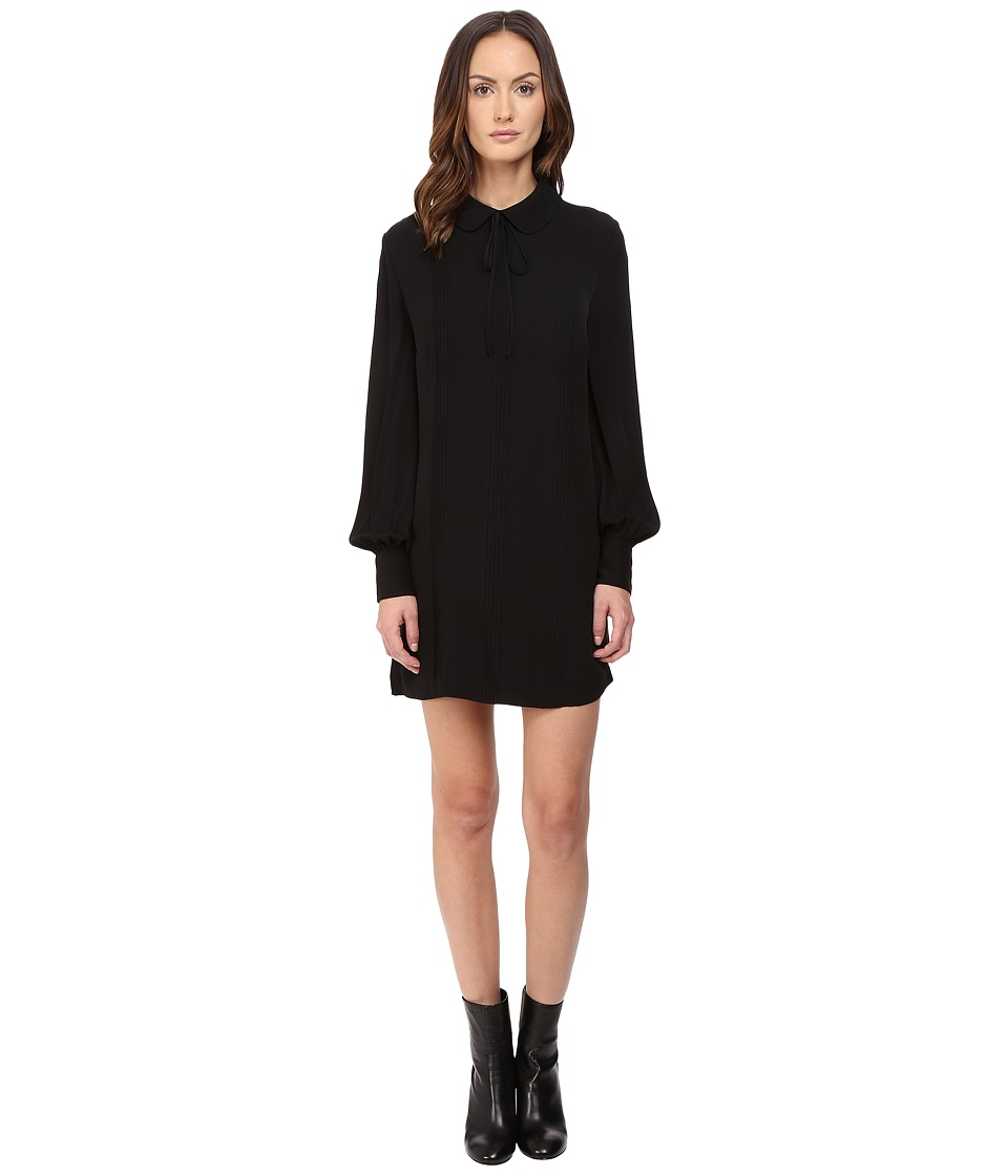 McQ - Pin Tuck Shirtdress (Black) Women's Dress