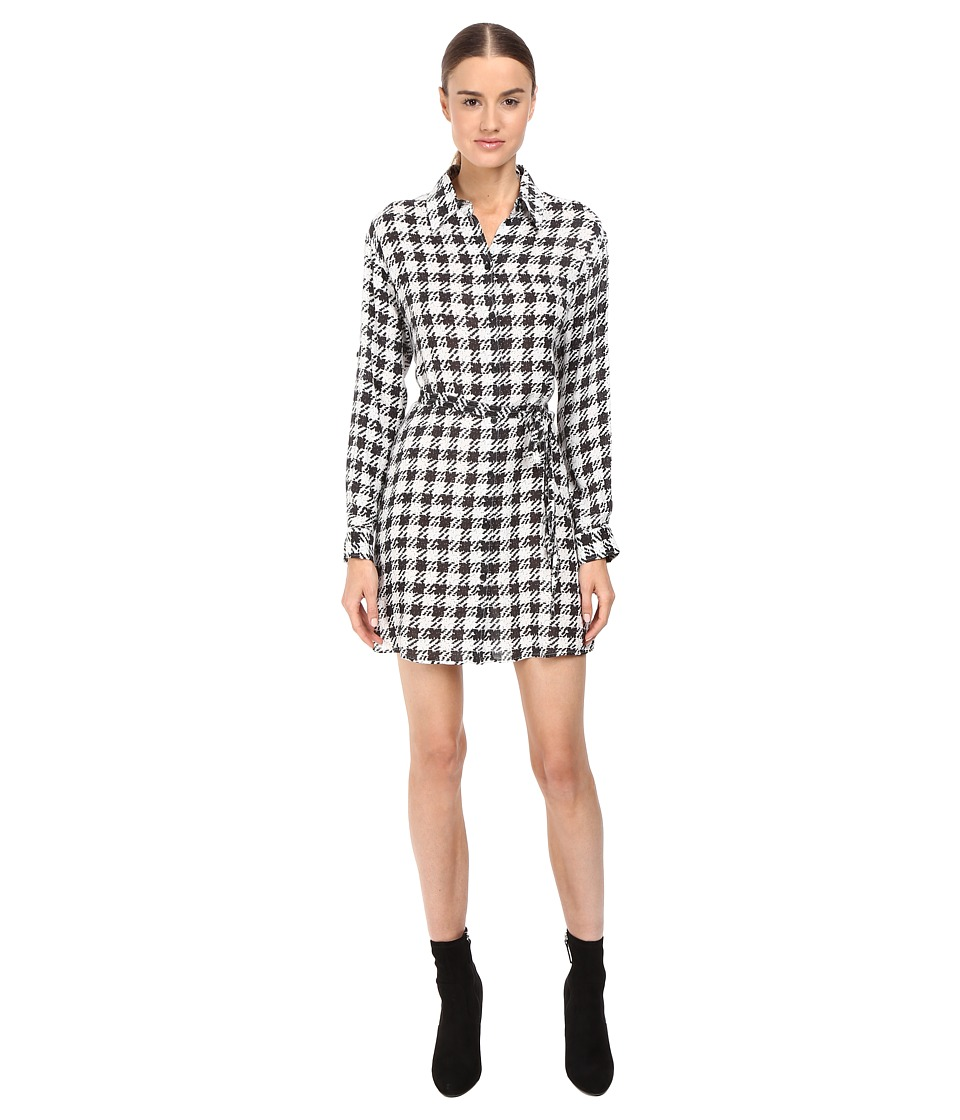 McQ - Waist Tie Tunic (Black/White) Women's Dress