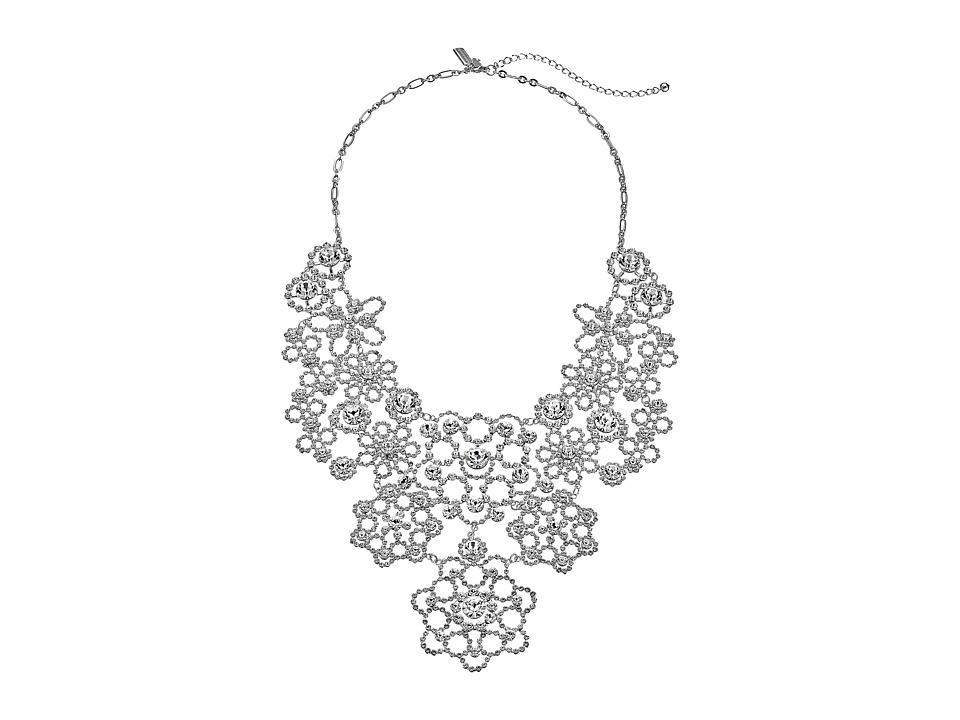 Kate Spade New York - Special Occasion Statement Necklace (Clear/Silver) Necklace