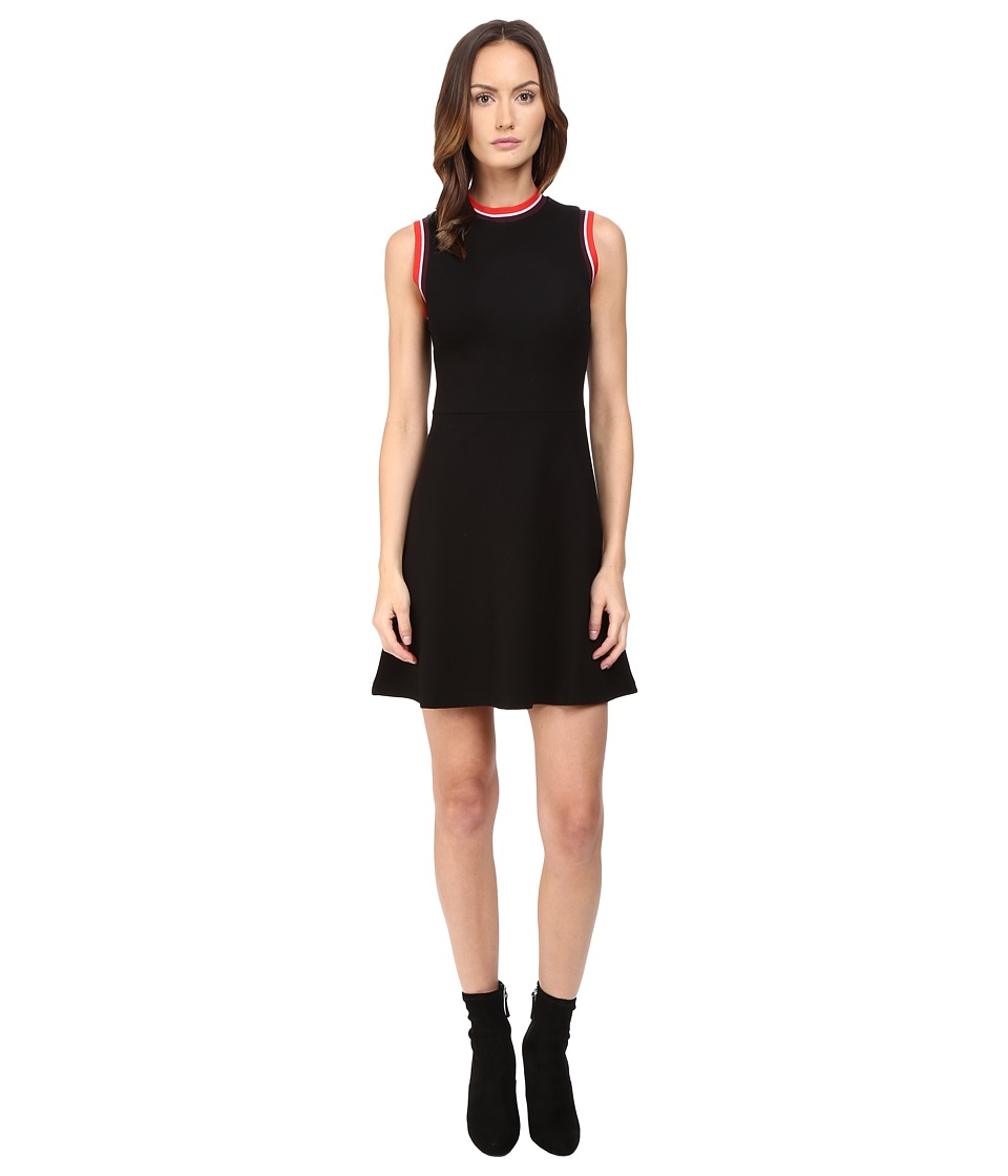 McQ - High Neck A-Line Dress (Darkest Black) Women's Dress