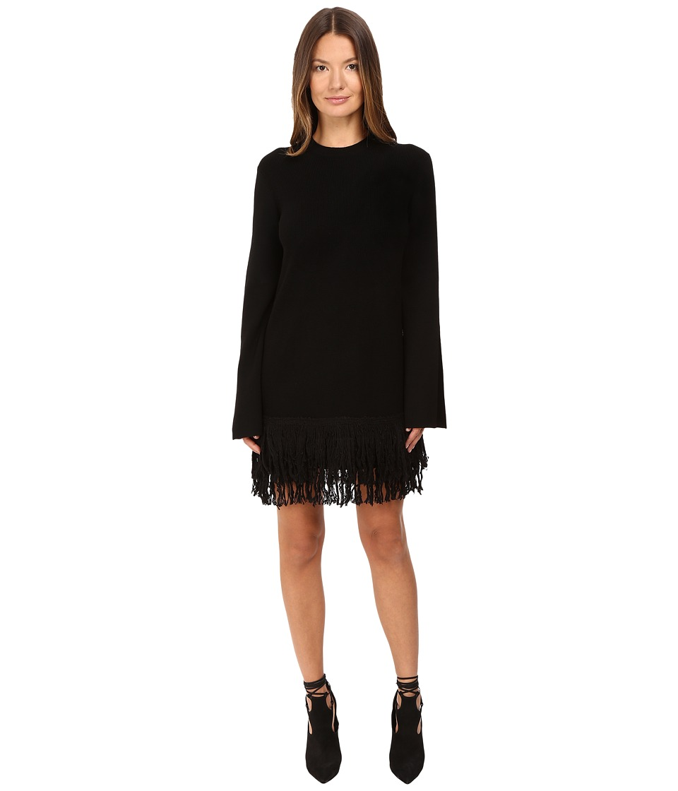 McQ - Fringe Dress (Darkest Black) Women's Dress