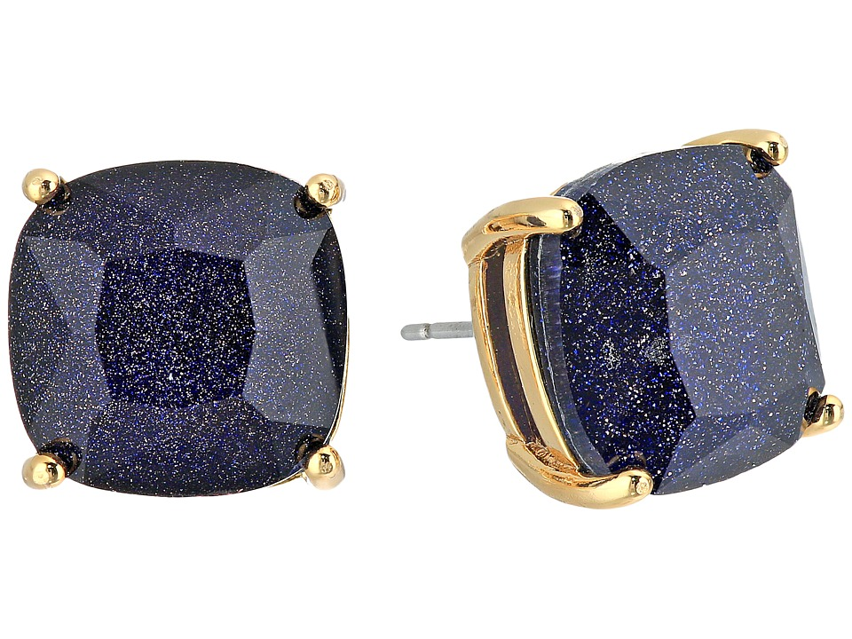 Kate Spade New York - Small Square Studs (Blue Sandstone) Earring