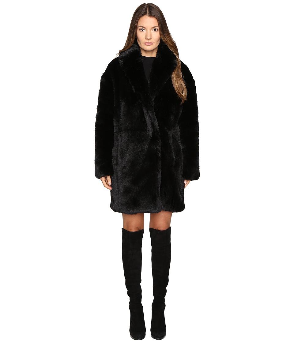 McQ - Fur Coat (Black) Women's Coat