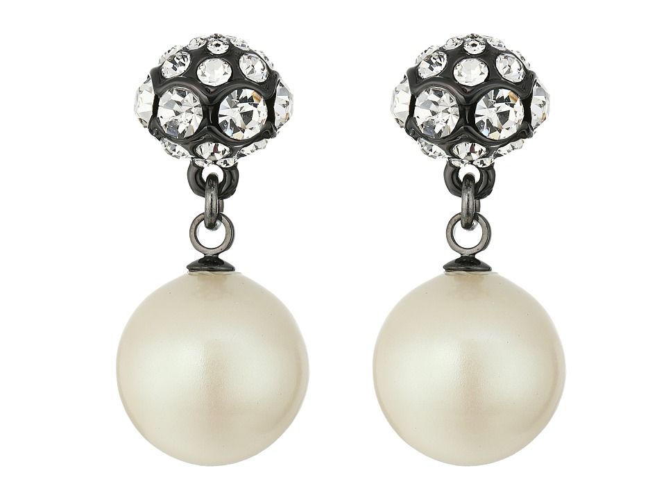 Kate Spade New York - Party Pearls Double Drop Earrings (Cream Multi) Earring