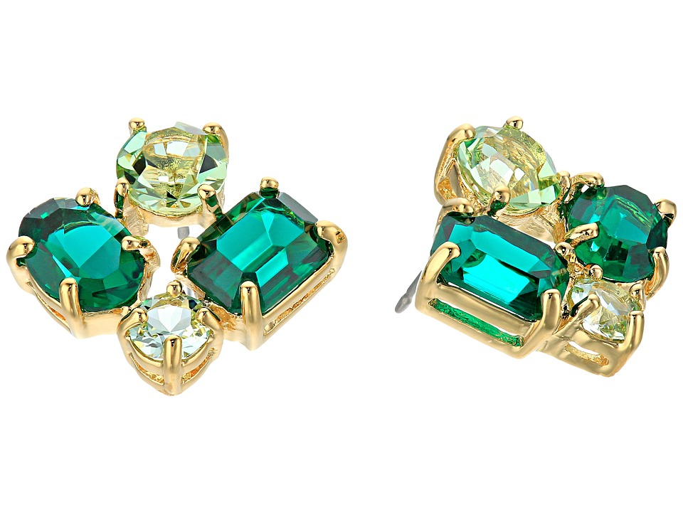Kate Spade New York - Vegas Jewels Cluster Studs (Emerald Multi) Earring
