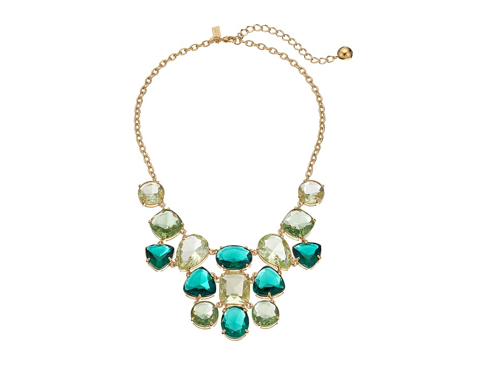 Kate Spade New York - Vegas Jewels Statement Necklace (Emerald Multi) Necklace