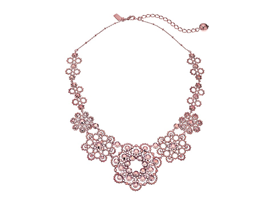 Kate Spade New York - Crystal Lace Necklace (Rose Gold) Necklace
