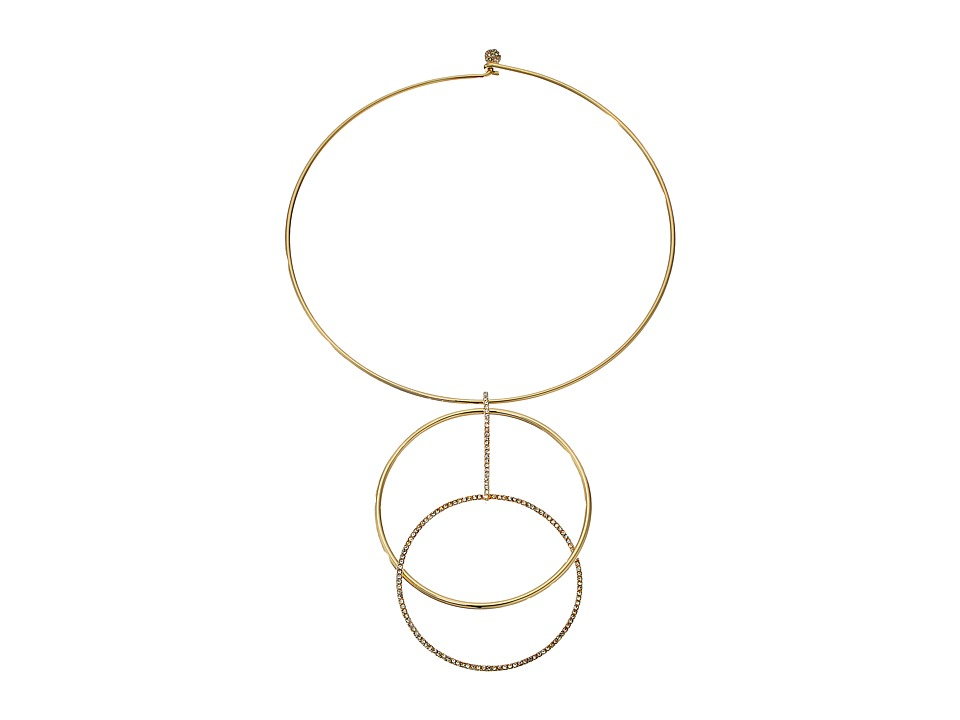 Kate Spade New York - Ring It Up Collar Pendant (Clear/Gold) Necklace