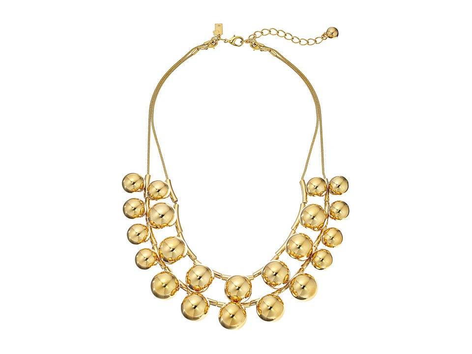 Kate Spade New York - Ring It Up Double Strand Necklace (Gold) Necklace