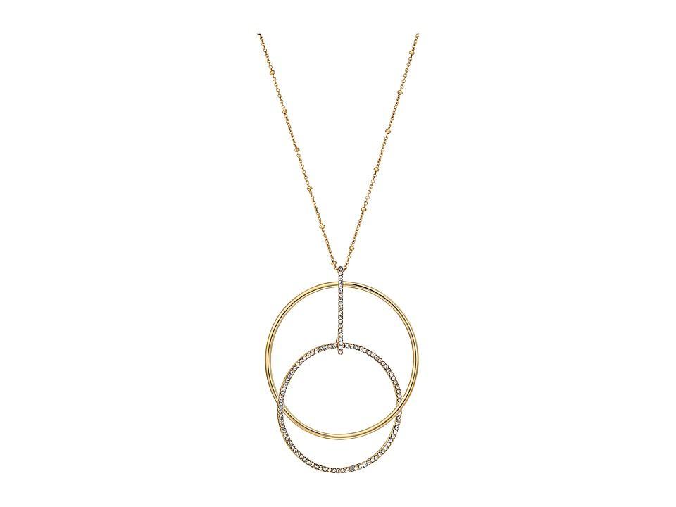 Kate Spade New York - Ring It Up Small Pendant (Clear/Gold) Necklace