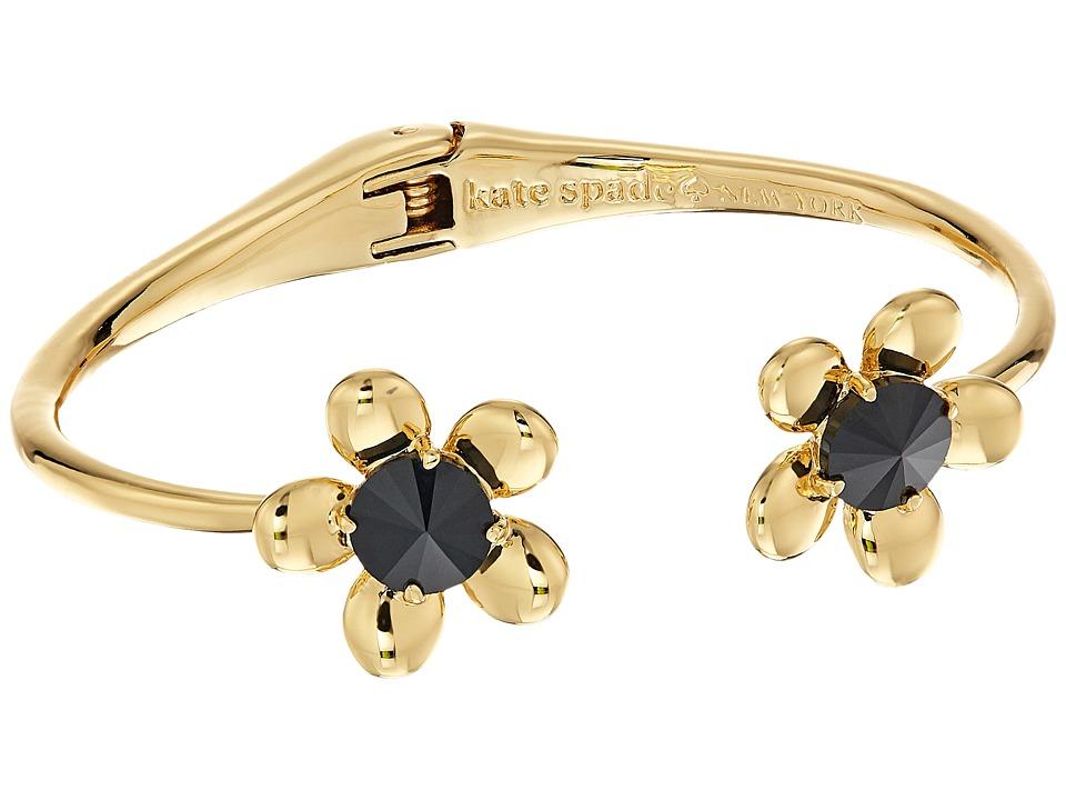 Kate Spade New York - Sunset Blooms Open Hinge Cuff (Black Multi) Bracelet