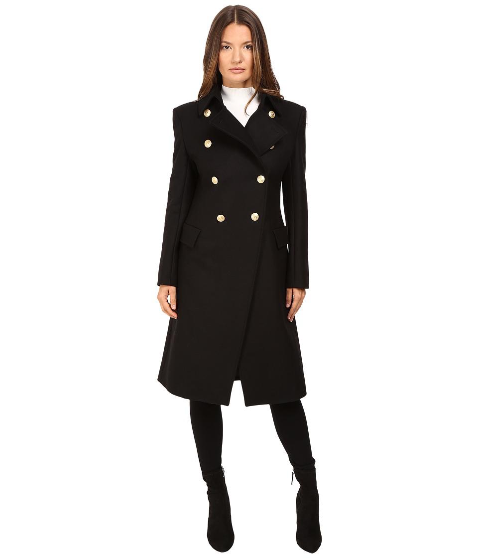Pierre Balmain - Classic Embellished Coat (Black) Women's Coat