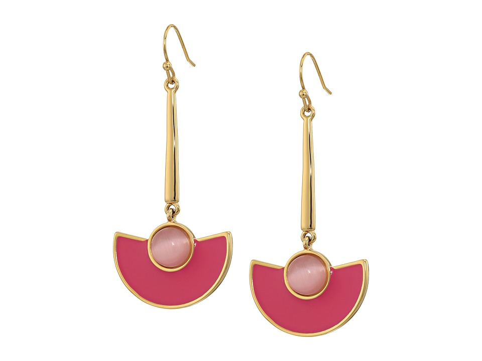 Kate Spade New York - Taking Shapes Linear Earrings (Pink) Earring