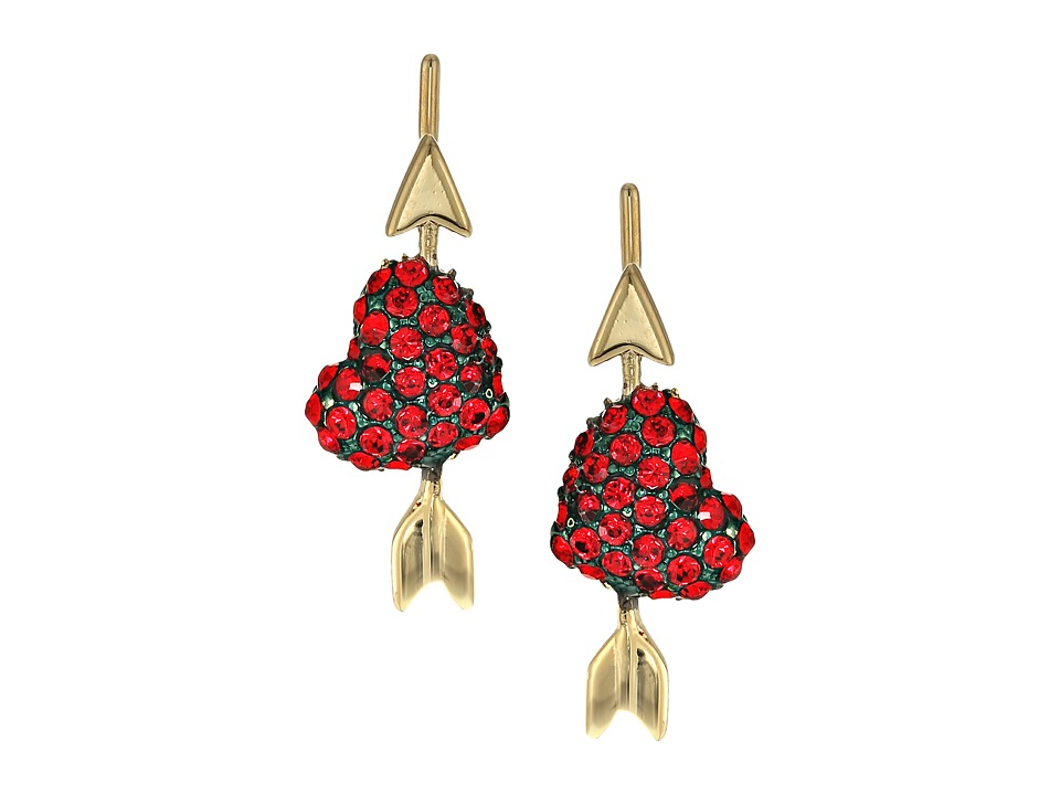 Kate Spade New York - Be Mine Heart Ear Pins (Red) Earring
