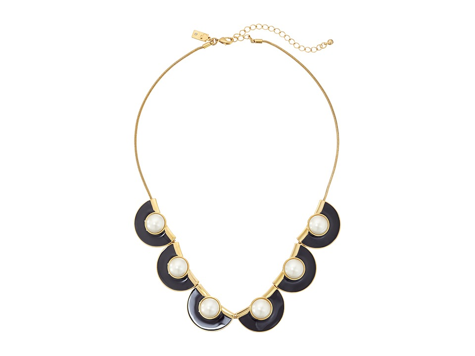 Kate Spade New York - Taking Shapes Short Necklace (Black) Necklace