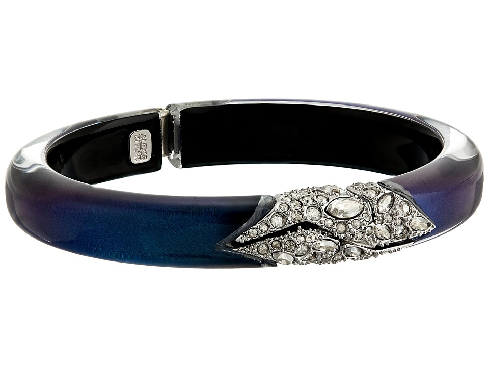 Alexis Bittar - Crystal Encrusted Mosaic Lace Hinge Bracelet (Blue Velvet) Bracelet