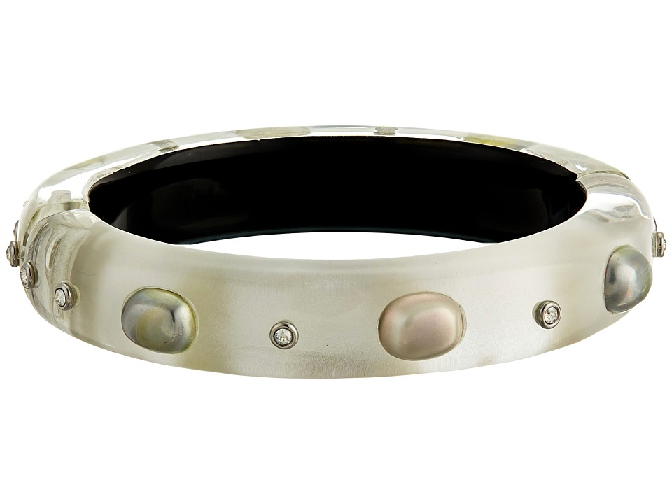 Alexis Bittar - Shell Based Pearl Crystal Accent Bracelet (Silver) Bracelet
